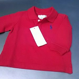 Ralph Lauren Polo Red Long Sleeve Size 3M NWT
